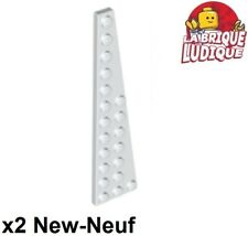 2x Wedge 12x3 right droit droite aile vert olive green 42060 NEUF Lego
