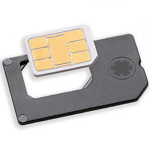 Nano SIM Adapter zu normaler Simkarte - MADE IN GERMANY - für Geräte mit normale