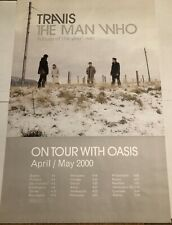 """Travis- """"The Man Who� April/May 2000 Tour w/ Oasis Poster (24x36) *Rare*"""