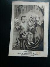 Ancienne image pieuse canivet saint joseph patron de leglise makowsky imp