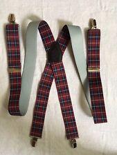 Elastic Plaid Clip On Adult Adjustable Suspenders By Suspender Hut
