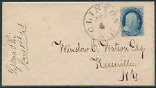 #20 F-VF ON 1858 COVER TO KEESEVILLE, NY W/ BLACK TOWN CANCEL CV $325 BT1083