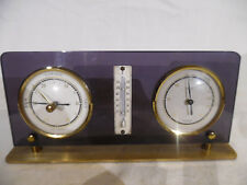 Vintage Desk Barometer And Thermometer Lucite And Metal Germany