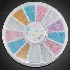 3D CANDY Color Nail Art Tips Pearl Acrylic Glitter Manicure DIY Decoration wheel