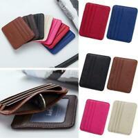 Men Card Holder Slim Bank Credit Card ID Card Holder Slot Slim Card Case Ca D6B2