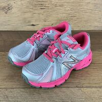 NEW BALANCE KJ634KMY RUNNING COURSE SHOES KIDS SIZE 12 SILVER/PINK US SELLER