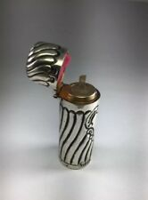 Antique Victorian 1886 Sterling Silver Repousse Hinged Perfume Scent Bottle M121