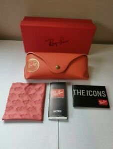 ⭐ Red Ray ban sunglasses case, BOX and CLOTH included, UK seller, designer ☀️