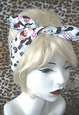 ROCKABILLY MULTI COLOUR LEOPARD PRINT HAIR HEAD WRAP SCARF  50'S / PIN UP