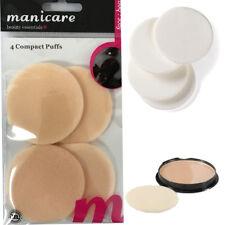 Manicare 4pc Mini Compact Puff Makeup Powder Beauty Cosmetic Facial Foundation F