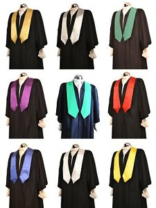 Satin Graduation Honour Stole University Bachelor Academic Sash - Gown Accessory