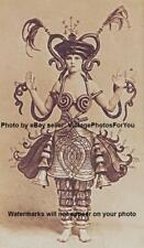 Vintage/Old/Antique 1917 Sexy/Unique/Fancy/Odd/Weird Costume/Outfit Woman Photo