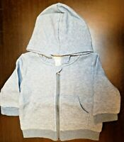 BOYS INFANT GYMBOREE BABY CLASSIC HOODIE WITH ZIPPER SIZE 3-6 MONTHS NWT BLUE