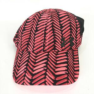 Under Armour Womens Hat Red Black Adjustable Cap HeatGear Lightweight Fly Fast