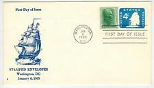 1965 OLD IRONSIDES FRIGATE CONSTITUTION U549 BAYLESS Stamped Envelope FDC