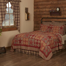 VHC Rustic Quilt Bedspread Blanket King Queen Twin Luxury Cotton Star Patchwork