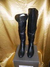 Refresh Women Knee High Boots Black Side Zipper Faux Leather Sz  8.5 NIB