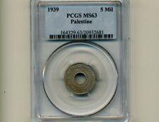 Palestine:KM-3,5 Mils, 1939 * Israel * PCGS MS 63 *