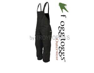 Frog Toggs Toadskinz Bib Pants Fishing Rain Black Waterproof NT8211-01 XL NWT