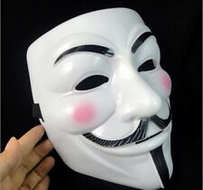 White V for Vendetta Mask Halloween Masquerade Anonymous Fawkes Fancy Hacker DE