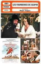 FICHE CINEMA : LES FOURBERIES DE SCAPIN - Coggio,Galabru,Darras 1981