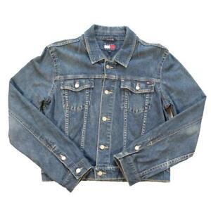 Vintage Tommy Hilfiger WOMENS Logo Denim Jacket - M