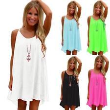 Women Summer Chiffon Beach Wear Bikini Cover Up Boho Swing Sun Dress Swimwear DS