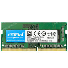 Crucial 4GB 8GB 16GB PC4-19200 DDR4 2400 PC4-2400T 260Pin CL17 1.2v SODIMM SDRAM