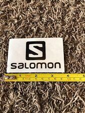 "Salomon Logo Snowboard Black Sticker Decal Ski Skiing Boots Outdoor Approx 3.75"""