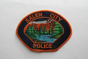 SALEM CITY POLICE EMBROIDERY APPLIQUÉ PATCH---003