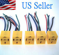 5Pack 5 Pin Wires Relay Socket Harness Connector DC 12V for Car Auto