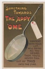 Something Towards The 'Appy 'Ome, Frying Pan Comic Postcard B632
