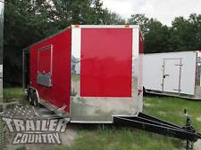 NEW 2018 8.5X20 8.5 X 20 V-NOSED ENCLOSED CONCESSION FOOD VENDING BBQ TRAILER