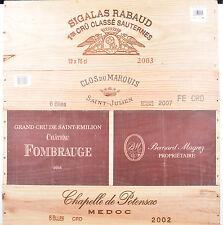 1 LOT N° 05 ESTAMPES façade caisse en bois pour cave à vin WWW.I-FRANCEWINE.FR
