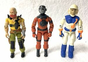 GI Joe Three Figure Lot Taurus Barbecue Snow Storm Vintage ARAH