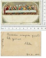 Ultima Cena - con dedica - 1913 - N.1