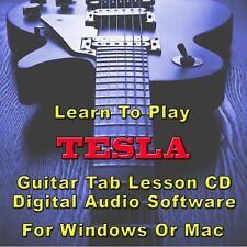 TESLA Guitar Tab Lesson CD Software - 52 Songs