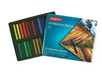 Derwent Inktense Blocks 24 Tin  +  Grippers (3 Pack)