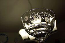 Rock Sharpe Clear Wheel Cut Halifax Champagne 3005 Stem Cut Flower 1940's