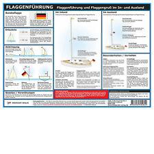 Flaggenführung (Flagge) - Info-Tafel, DIN A4, laminiert # Dreipunkt-Verlag Boot