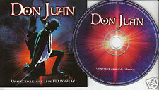 DON JUAN French Cast CD 2003 Felix Gray Music Jean-Francois Breau Mario Pelchat