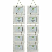 """White Wooden Shabby Chic Driftwood Hanging 5 Photo Picture Frame-6x4"""" x2"""