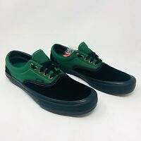 Vans Era Pro Skate Shoes Black/Alpine Green Mens Size 10.5 Sneakers New In Box
