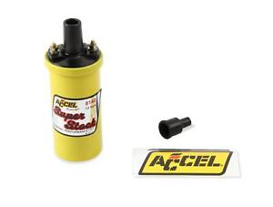 ACCEL Ignition Coil-Yellow-42000v 1.4 ohm primary-Points-good upto 6500 RPM-8140