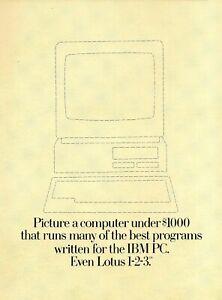 1984 IBM PC Jr Computer 12-Page Glossy Brochure Magazine Insert Vintage Print Ad