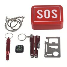 Outdoor Camping SOS Emergency Survival Gear Kit Hiking Hunting Tactical EDC Box