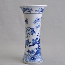 Meissen chinesische Blumen und Bambus kobaltblaue Unterglasurmalerei Vase 1.Wahl