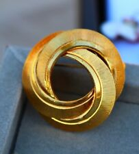 Made in Germany ethernal knot wreath textured  BROOCH