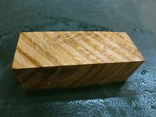 SPALTED TIGER OAK DELUXE KNIFE BLOCK/SCALES/ CALLS/ PEN BLANKS--O--A--3