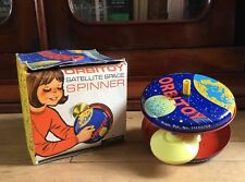 Orbitoy Satellite Space Spinner. Vintage 1970 Metal Toy & Box. Made In England!
